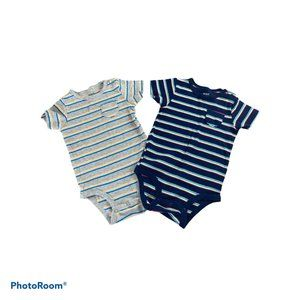 Carter's Pack of 2 Striped Onesies Sz 12m